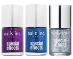 Nails Inc Special Effects 3D Glitter Nail Polish 3pk - Bloomsbury/Connaught Square/Maida Vale 1