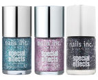 Nails Inc Special Effects 3D Glitter Nail Polish 3pk - Hammersmith/Marylebone/Sloane Square 1