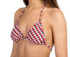 All About Eve Women's Nancy Triangle Bikini Top - Check Yardage 3
