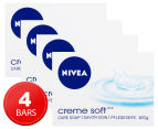 4 x Nivea Creme Soft Bar 100g 1