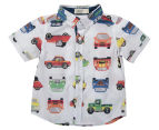 BQT Baby Car Print Woven Shirt - Multi  1