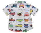 BQT Baby Car Print Woven Shirt - Multi  2