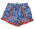 Funkybabe Junior Girls' Geo Print Shorts - Melon 1