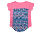 Funkybabe Girls' Pom Pom Panel Top - Melon 2