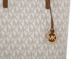 Michael Kors Hayley Large Logo North-South Tote Bag - Vanilla/Acorn 4