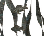 Metallic 70cm Swimming Fish Wall Hanging - Green 5