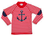 Plum Boys' Long Sleeve Rashie - Nautical 1