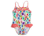 Plum Girls' Swimsuit - Floral 1