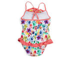 Plum Girls' Swimsuit - Floral 2