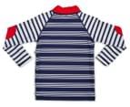 Plum Boys' Long Sleeve Rashie - Navy Stripes 2