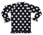 Plum Girls' Long Sleeve Rashie - Polka Dot 2