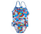 Plum Girls' Swimsuit - Fruit 1