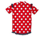 Plum Girls' Short Sleeve Rashie - Nautical 2