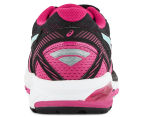 ASICS Women's GT-1000 5 Shoe - Black/Sport Pink/Aruba Blue 4