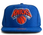 Mitchell & Ness NY Knicks Tonal Texture French Terry Snapback - Blue/Orange 1