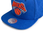 Mitchell & Ness NY Knicks Tonal Texture French Terry Snapback - Blue/Orange 5
