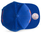 Mitchell & Ness NY Knicks Tonal Texture French Terry Snapback - Blue/Orange 6