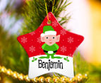 3 x Personalised Christmas Star Ornaments 5