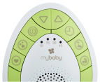 Mybaby By HoMedics Soundspa On-The-Go - Green/White 5