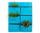The Urban Farmer 6-Pocket Wall Felt Planter - Pale Blue 1