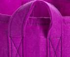 The Urban Farmer Medium Round Felt Planter - Purple 6