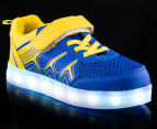 GLEAMKICKS Kids' Robo Gleamer Shoe - Blue/Yellow 2