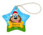 3 x Personalised Christmas Star Ornaments 2