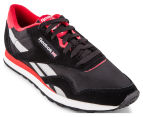 Reebok Men's Classic Nylon TS Sneaker - Black/Red/Grey 2