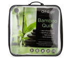 Ardor Bamboo Queen Bed 350GSM Microfibre Quilt - White 6
