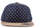 Flexfit Boy's Denim Circle Snapback - Navy 1