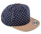 Flexfit Boy's Denim Circle Snapback - Navy 2
