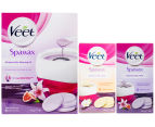 Veet Spawax Stripless Wax Warming Kit + Refills 150g  1