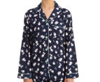 Lovable Women's Classic PJ Set - Peacoat Rose Print 3