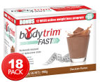 Bodytrim Fast Shake Meal Replacement Chocolate Drink 18pk 1
