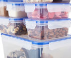 Airtight Food Storage Containers 18-Piece Set - Blue/Transparent 2