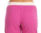 Lovable Women's Rosabel PJ Pant - Very Berry/Almost Mauve 4
