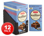 12 x Alter Eco Dark Blackout Organic Chocolate Bars 80g 1