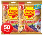 2 x The Best Of Chupa Chups Lollipops 25pk 1