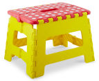 Plastic Folding Step Stool - Red 1