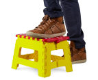 Plastic Folding Step Stool - Red 2