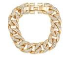 PeepToe Crystal Chain Link Bracelet - Gold 1