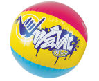 Wahu 60cm Jumbo Beach Ball - Blue/Pink/Yellow 1