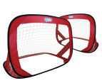Wahu Pop Up Soccer Goals Set - Red 2