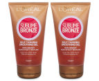 2 x L'Oréal Sublime Bronze Self Tanning Smoothing Gel 150mL 1