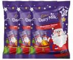 3 x Cadbury Dairy Milk Chocolate Santa Share Pack 150g 1