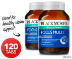 2 x Blackmores Focus Multi Multivitamin 60 Tabs 1