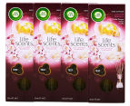 4 x Air Wick Life Scents Reed Diffusers White Flowers, Melon & Vanilla 30mL 1