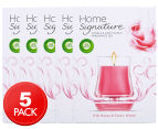 5 x Air Wick Home Signature Candle & Fragrance Gel Pink Roses & Exotic Wood 130g 1