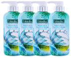 4 x Palmolive Liquid Hand Wash Aqua Lily & Coconut Water 420mL 1