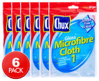 Chux 35x35cm Glass Microfibre Cloth 6pk 1